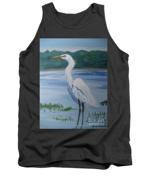 Marsh Land Egret Tank Top