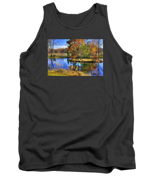 Maryland Country Roads - Autumn Respite No. 1 - Stronghold Sugarloaf Mountain Frederick County Md Tank Top