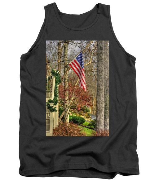 Maryland Country Roads - Flying The Colors 1a Tank Top by Michael Mazaika