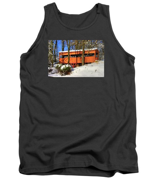 Maryland Country Roads - The Hidden Covered Bridge Of Braddock Mountain - Frederick County Tank Top