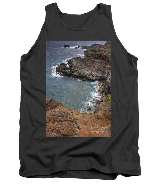 Tank Top featuring the photograph Maui Cliff by Bryan Keil