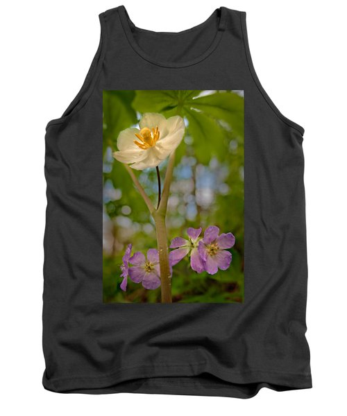 May Apples And Wild Geraniums Tank Top