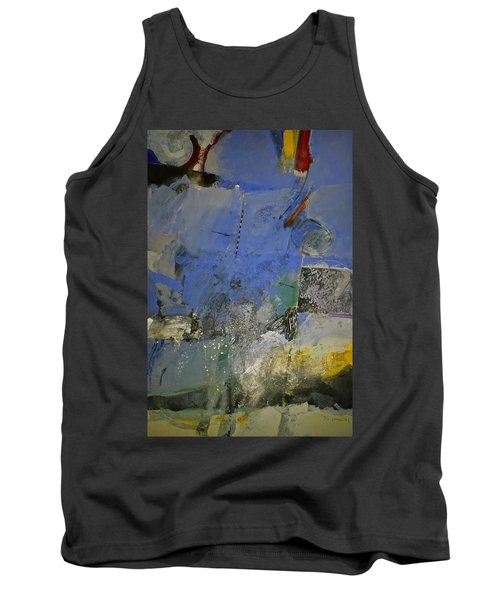 Tank Top featuring the painting Meatier Illogical Cold Front by Cliff Spohn