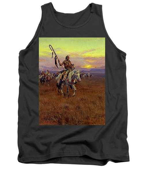 Medicine Man Tank Top by Charles Marion Russell