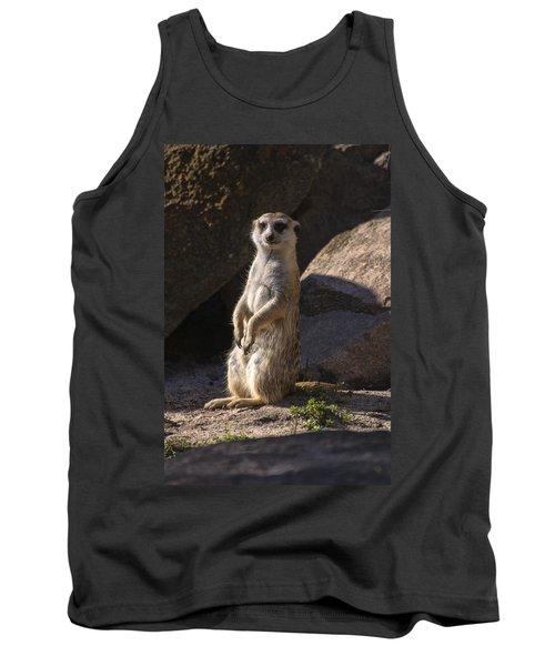 Meerkat Looking Forward Tank Top by Chris Flees