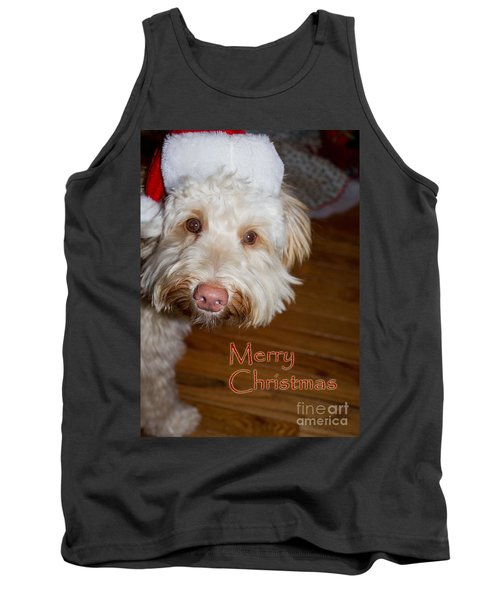 Merry Christmas From A Labrdoodle Card Tank Top