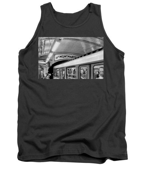 Tank Top featuring the photograph Metro At Montmartre. Paris by Jennie Breeze