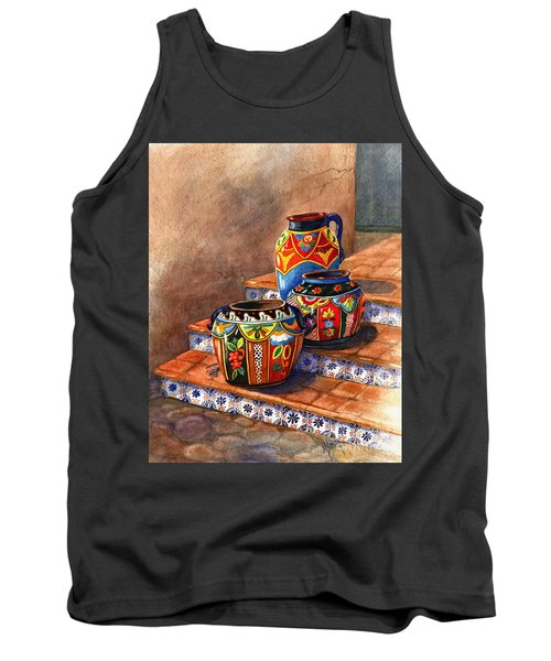 Mexican Pottery Still Life Tank Top by Marilyn Smith