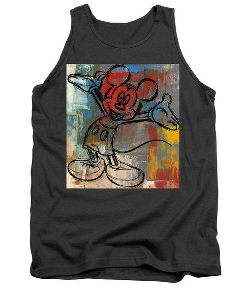 Mickey Mouse Sketchy Hello Tank Top by Paulette B Wright