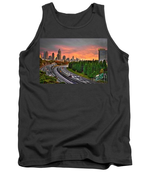 Midtown Atlanta Autumn Sunset Art    Tank Top