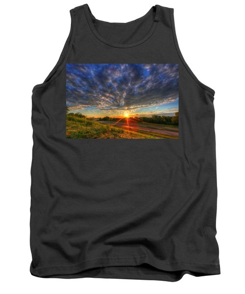 Midwest Sunset After A Storm Tank Top