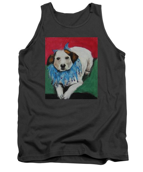 Tank Top featuring the painting Mikey by Jeanne Fischer