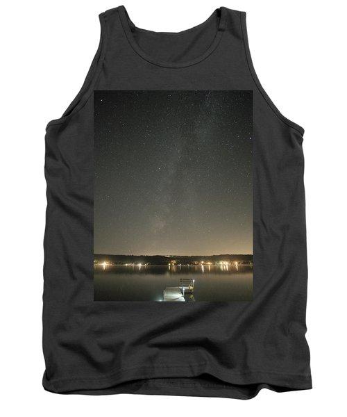 Milky Way Spills Into Conesus Tank Top by Richard Engelbrecht