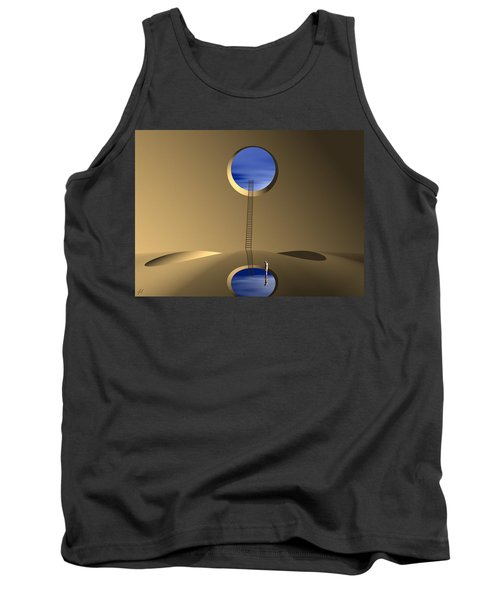 Tank Top featuring the digital art Mind Well by John Alexander