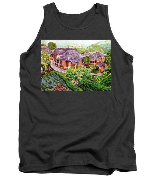 Tank Top featuring the painting Mini Paradise by Belinda Low
