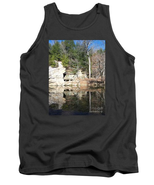 Tank Top featuring the photograph Sugar Creek Mirror by Pamela Clements