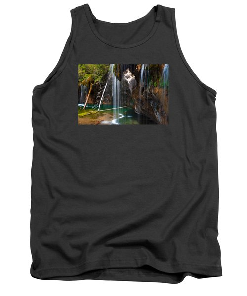 Misty Falls At Hanging Lake Tank Top