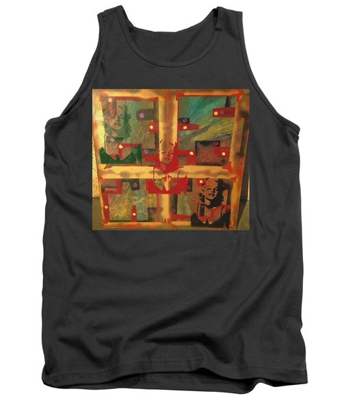 Mixed Media Abstract Post Modern Art By Alfredo Garcia The Blond Bombshell 3 Tank Top