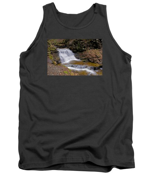 Mohican Falls In Spring Tank Top by Shelly Gunderson