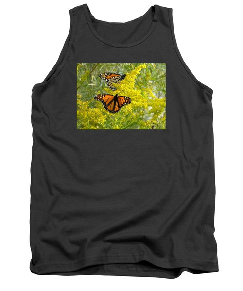 Monarchs On Goldenrod Tank Top by Susan  Dimitrakopoulos