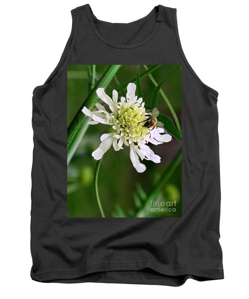 Tank Top featuring the photograph Monet's Garden Bee. Giverny by Jennie Breeze