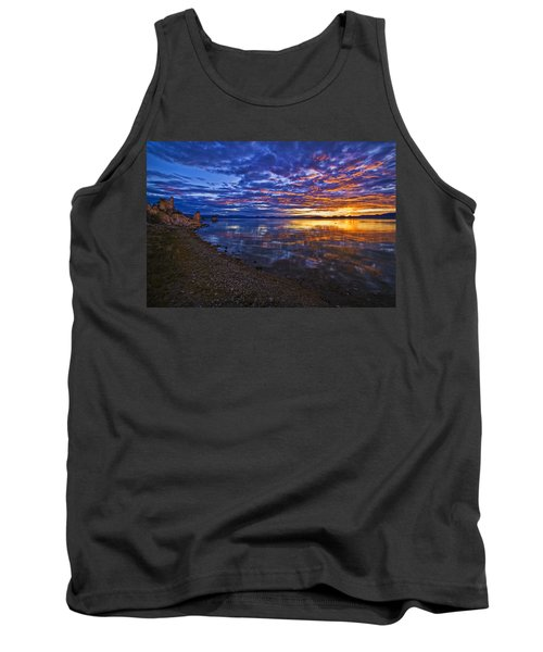 Tank Top featuring the photograph Mono Lake Sunrise by Priscilla Burgers