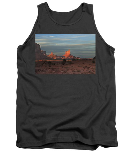 Tank Top featuring the photograph Monument Valley Sunset by Alan Vance Ley