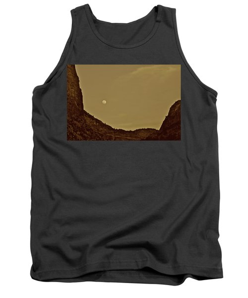 Moon Over Crag Utah Tank Top
