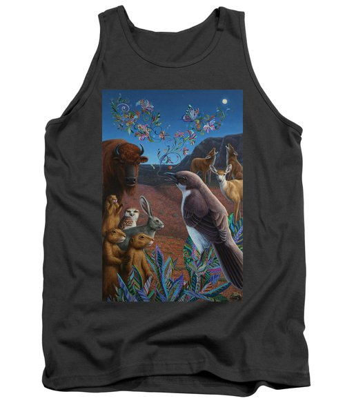 Moonlight Cantata Tank Top by James W Johnson