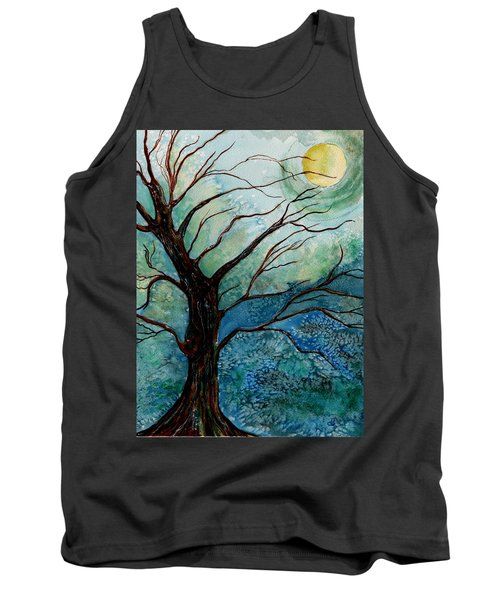 Moonrise In The Wild Night Tank Top