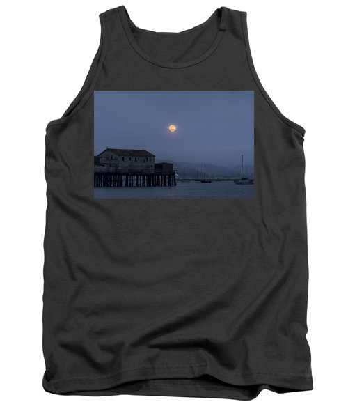 Moonrise Over The Harbor Tank Top