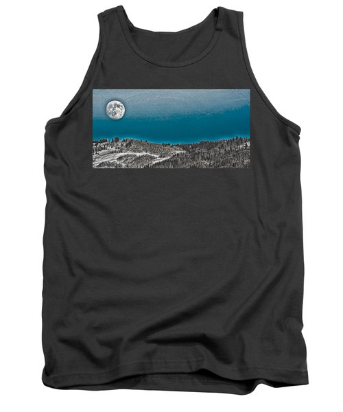Tank Top featuring the photograph Moonrise Over The Mountain by Don Schwartz