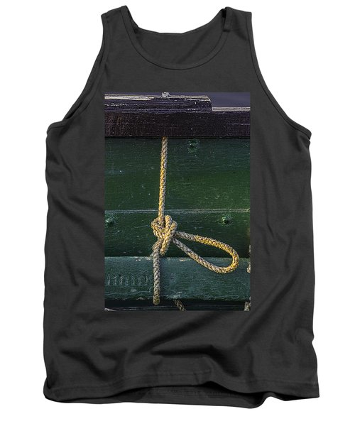 Tank Top featuring the photograph Mooring Hitch by Marty Saccone