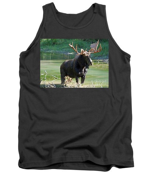 Moose Country Tank Top by Bob Hislop