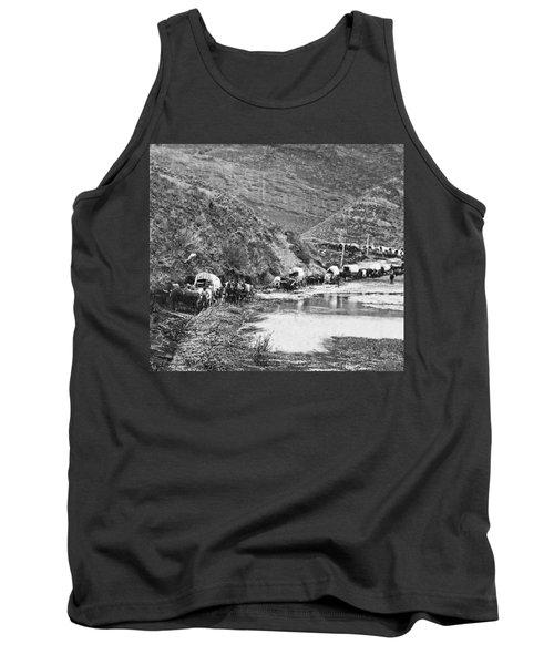 Mormon Emigrant Conestoga Caravan 1879 - To Utah Tank Top