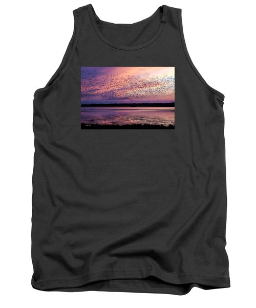 Tank Top featuring the photograph Morning Commute by Joan Davis