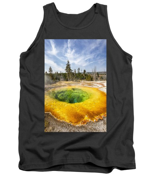 Morning Glory Pool In Yellowstone National Park Tank Top