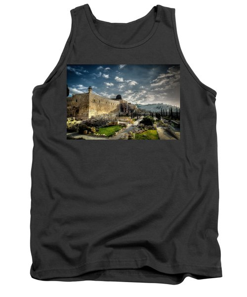 Morning In Jerusalem Hdr Tank Top