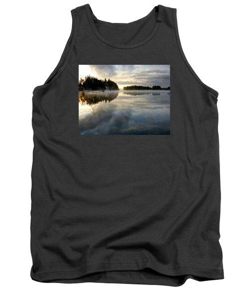 Morning Lake Reflection Tank Top by Peter Mooyman