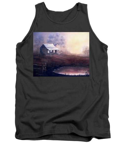 Tank Top featuring the painting Morning Reflections by Hazel Holland
