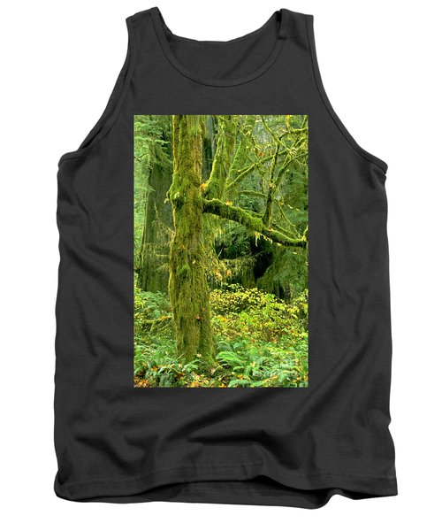 Tank Top featuring the photograph Moss Draped Big Leaf Maple California by Dave Welling
