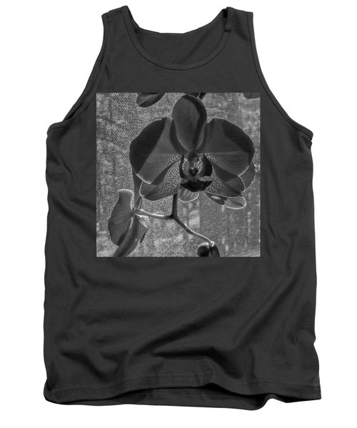 Tank Top featuring the photograph Moth Orchid In Window by Ron White