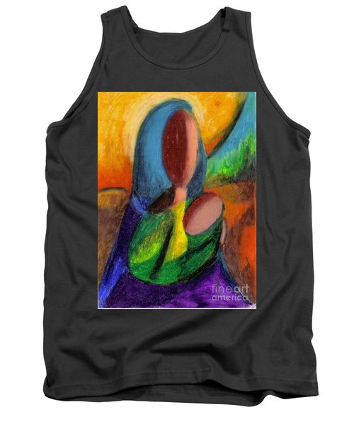 Tank Top featuring the pastel Mother And Child by Karen  Ferrand Carroll