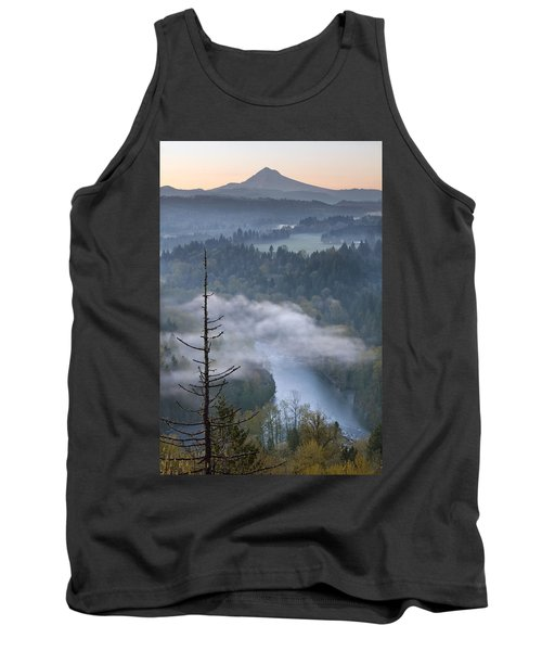 Tank Top featuring the photograph Mount Hood And Sandy River At Sunrise by JPLDesigns