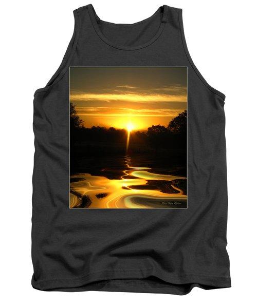 Mount Lassen Sunrise Gold Tank Top by Joyce Dickens