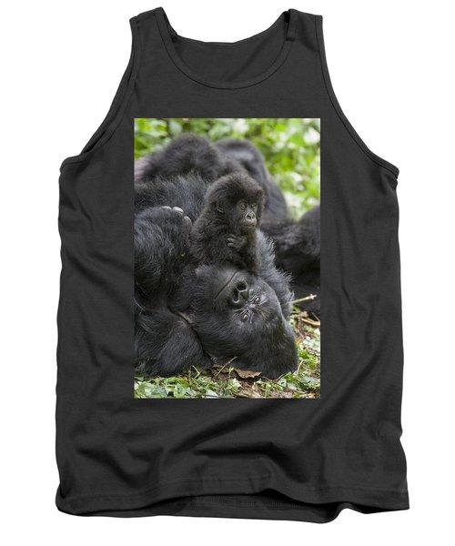 Mountain Gorilla Baby Playing Tank Top