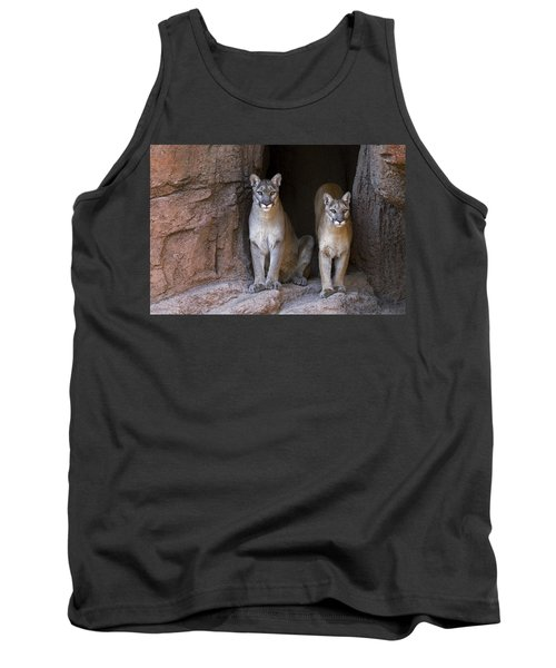 Tank Top featuring the photograph Mountain Lion 2 by Arterra Picture Library