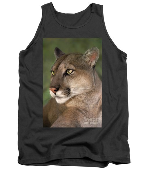 Tank Top featuring the photograph Mountain Lion Portrait Wildlife Rescue by Dave Welling