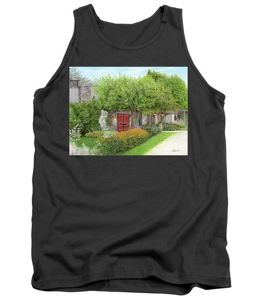 Tank Top featuring the painting Mountain Playhouse Jennerstown Pa by Albert Puskaric