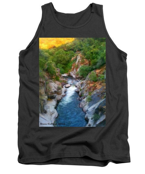 Tank Top featuring the painting Mountain Stream by Bruce Nutting